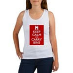 Keep Calm Carry Bins Women's Tank Top