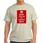 Keep Calm Carry Bins Light T-Shirt