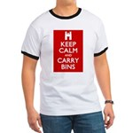 Keep Calm Carry Bins Ringer T