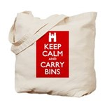 Keep Calm Carry Bins Tote Bag
