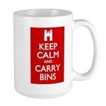 Keep Calm Carry Bins Large Mug