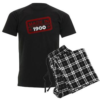 Stamped Made In 1900 Men's Dark Pajamas
