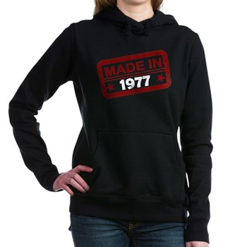 Stamped Made In 1977 Woman's Hooded Sweatshirt