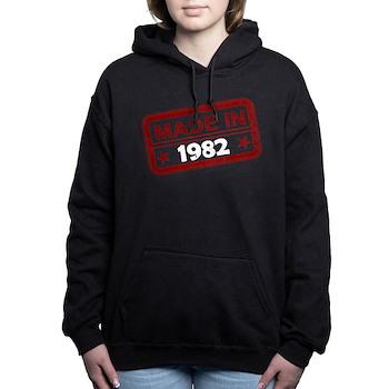 Stamped Made In 1982 Woman's Hooded Sweatshirt
