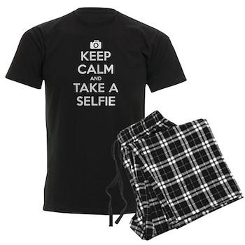 Keep Calm and Take a Selfie Men's Dark Pajamas