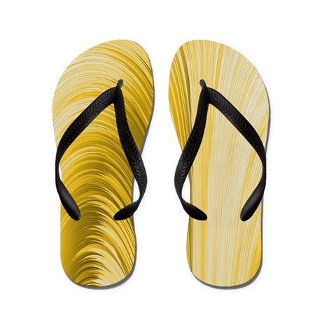 Golden Yellow Flip Flops