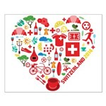 Switzerland World Cup 2014 Heart Small Poster