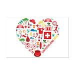 Switzerland World Cup 2014 Heart Mini Poster Print