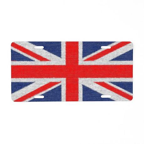 British Flag Aluminum License Plate