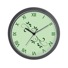 Green Leaves Wall Clock Wall Clock