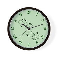 Green Leaves Wall Clock Wall Clock