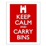 Keep Calm Carry Bins Small Poster