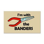 I'm with the Banders Rectangle Car Magnet