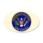 Licensed Bird Bander Oval Car Magnet