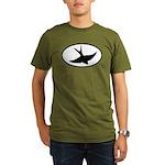Flying Swift Oval Organic Men's T-Shirt (dark)