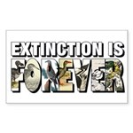 Extinction is Forever Sticker (Rectangle)