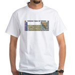 Periodic Table of Birding White T-Shirt