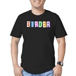 Retro-style Birder Men's Fitted T-Shirt (dark)