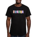Retro-style Birder Men's Fitted T-Shirt (dark)