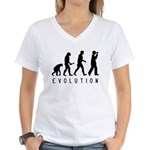 Evolution: Birder Women's V-Neck T-Shirt