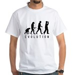 Evolution: Birder White T-Shirt