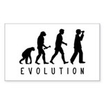 Evolution: Birder Sticker (Rectangle)
