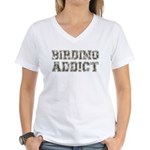 Birding Addict Women's V-Neck T-Shirt