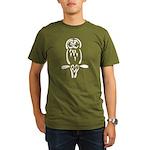 Stylized Barred Owl Organic Men's T-Shirt (dark)