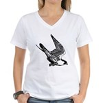 Peregrine Sketch Women's V-Neck T-Shirt