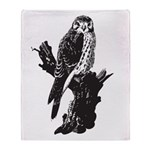 American Kestrel Sketch Throw Blanket