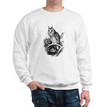 Long-eared Owl Sketch Sweatshirt