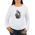 Long-eared Owl Sketch Women's Long Sleeve T-Shirt