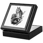 Long-eared Owl Sketch Keepsake Box