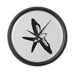 Scissor-tailed Kite Cartoon Large Wall Clock