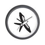 Scissor-tailed Kite Cartoon Wall Clock