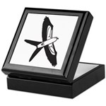 Scissor-tailed Kite Cartoon Keepsake Box