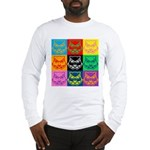 Pop Art Owl Face Long Sleeve T-Shirt