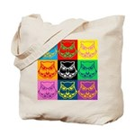 Pop Art Owl Face Tote Bag
