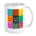 Pop Art Owl Face Large Mug