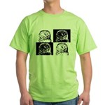 Barred Owl Pop Art Green T-Shirt