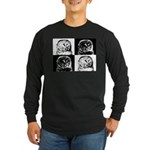Barred Owl Pop Art Long Sleeve Dark T-Shirt