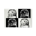 Barred Owl Pop Art Rectangle Magnet