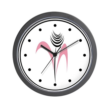 Pink Beauty Exotic Flower Wall Clock
