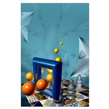 Surreal Chess Large Poster
