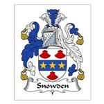 Snowden Family Crest Small Poster