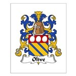 Olive Family Crest Small Poster