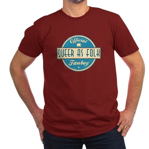 Offical Queer as Folk  Fanboy Men's Dark Fitted T-Shirt