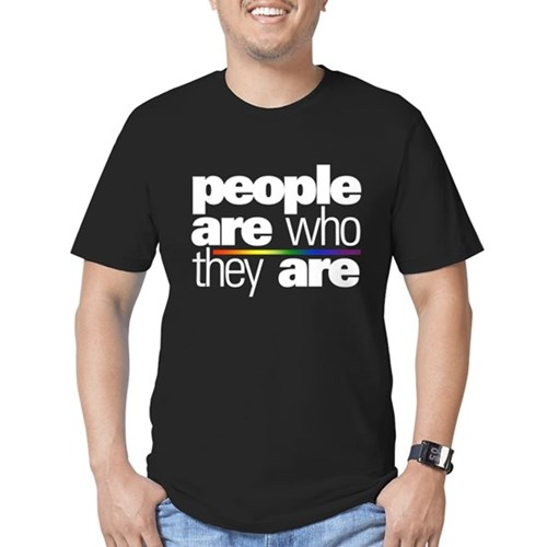 People Are Who They Are Men's Dark Fitted T-Shirt