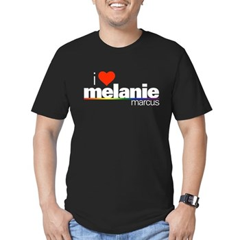 I Heart Melanie Marcus Men's Dark Fitted T-Shirt
