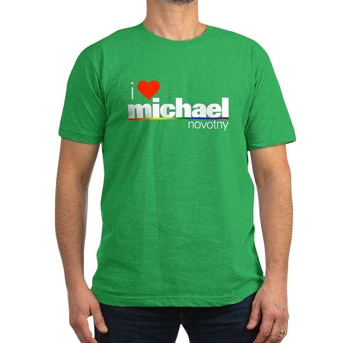 I Heart Michael Novotny Men's Dark Fitted T-Shirt